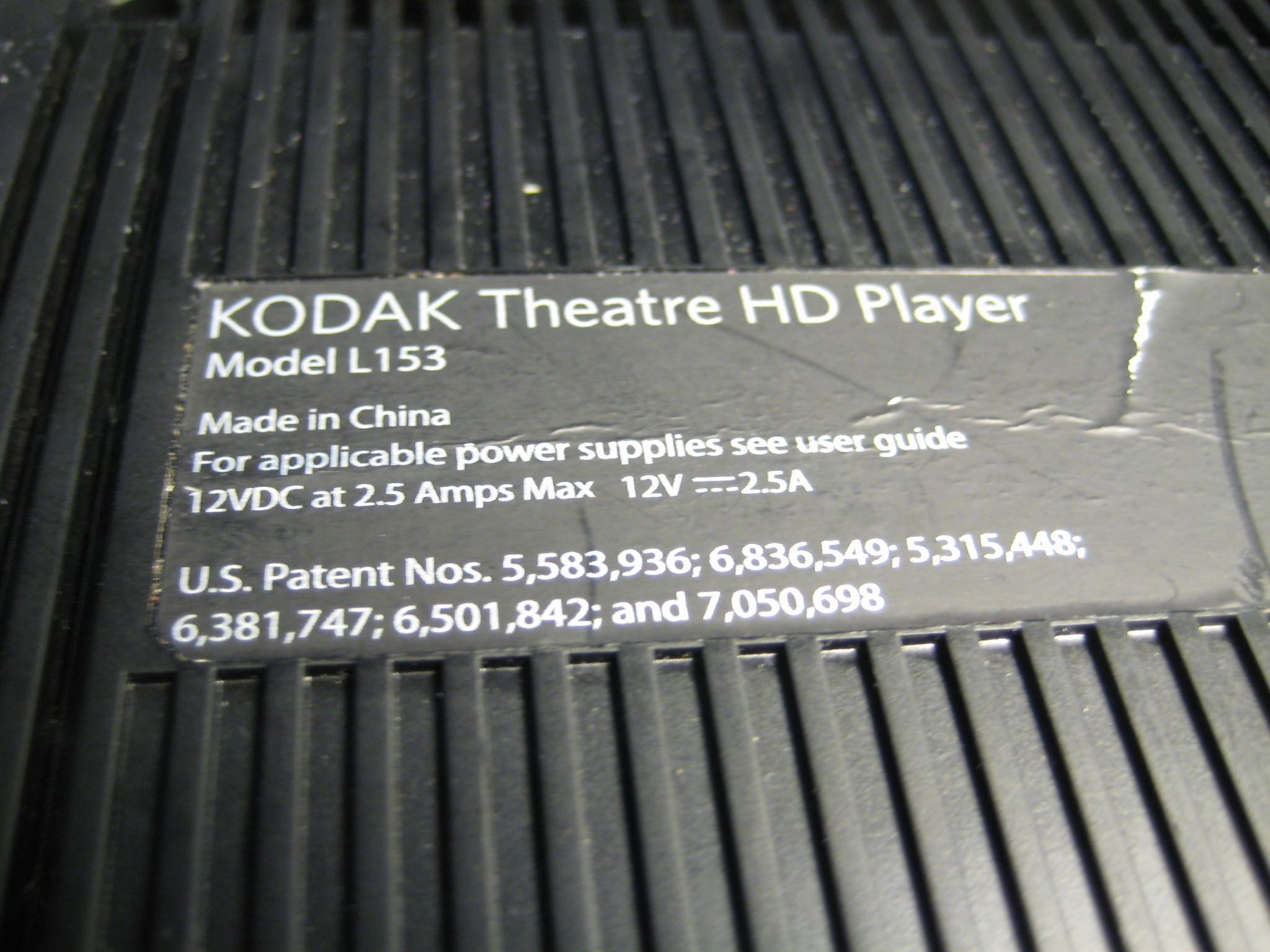 Teardown of the Kodak Theatre HD Player (L153)